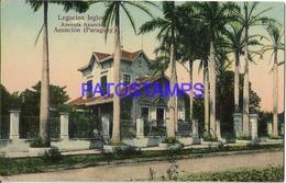 134423 PARAGUAY ASUNCION LEGACION INGLESA & AVENIDA POSTAL POSTCARD - Paraguay