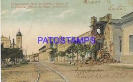 134424 PARAGUAY DEPARTAMENTO GENERAL DE POLICIA & IGLESIA CHURCH & RAILROAD POSTAL POSTCARD - Paraguay