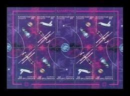 Kazakhstan 1997 Mih. 163/65 Space. Cosmonautics Day (M/S) MNH ** - Kazakhstan