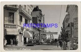 134429 PARAGUAY ASUNCION CALLE STREET PALMA & AUTOMOBILE CAR POSTAL POSTCARD - Paraguay