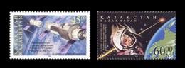 Kazakhstan 2001 Mih. 312/13 Space. Cosmonautics Day. Sojuz-11. Salyut-1. Yuri Gagarin MNH ** - Kazakhstan