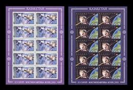 Kazakhstan 2001 Mih. 312/13 Space. Cosmonautics Day. Sojuz-11. Salyut-1. Yuri Gagarin (2 M/S) MNH ** - Kazakhstan