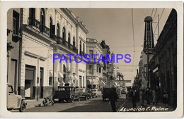 134430 PARAGUAY ASUNCION STREET CALLE PALMA & AUTO CAR POSTAL POSTCARD - Paraguay