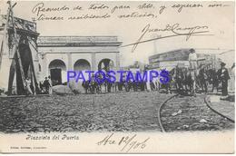 134432 PARAGUAY PLAZOLETA DEL PUERTA YEAR 1906 CIRCULATED TO URUGUAY POSTAL POSTCARD - Paraguay