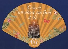 -041-  OFFICE DE TOURISME DE GRASSE * FORME EVENTAIL * -  MARQUE PAGE DECOUPE - Bookmarks