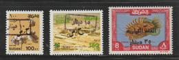 Sudan - 1993 - Rare - Overprinted / Surcharge - ( 10,15 & 35 Dinars On 100,150 Pt & 8 Pound ) - MNH** - Sudan (1954-...)