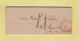 Belgique - Neufchateau - 1856 - Destination Moselle - Belgique
