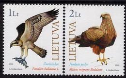 2000Lithuania731-732The Red Book Of Lithuania: Birds Of Prey - Adler & Greifvögel