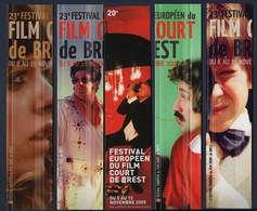 -049-  FESTIVAL EUROPEEN DU FILM COURT DE BREST  - LOT 5 MARQUE PAGE - Bookmarks