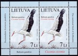 2013Lithuania1130KLBirds 11,00 € - Storks & Long-legged Wading Birds