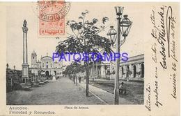 134434 PARAGUAY ASUNCION PLAZA DE ARMAS CIRCULATED TO ARGENTINA POSTAL POSTCARD - Paraguay
