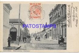134435 PARAGUAY ASUNCION STREET CALLE & RAILROAD CIRCULATED TO ARGENTINA  POSTAL POSTCARD - Paraguay