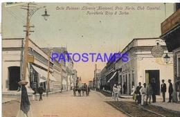 134439 PARAGUAY ASUNCION CALLE PALMAS CLUB ESPAÑOL CIRCULATED TO ARGENTINA  POSTAL POSTCARD - Paraguay