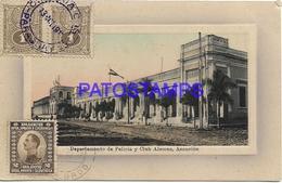 134440 PARAGUAY ASUNCION DEPARTAMENTO DE POLICIA Y CLUB ALEMAN CIRCULATED TO AUSTRIA POSTAL POSTCARD - Paraguay