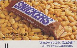 Télécarte Ancienne JAPON / 110-16604 B - CHOCOLAT - SNICKERS - CHOCOLATE Peanuts Food Front Bar JAPAN Phonecard - 99 - Alimentación