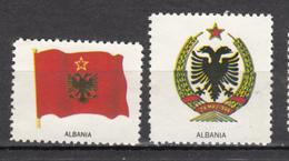 ##4,  Albanie, Albania, Vignette, Cinderella, Drapeau, Flag, Armoiries, - Albania