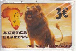 GREECE - Lion, Africa Express Prepaid Card 3 Euro, Mint - Griekenland