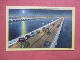 Night View Of New Causeway  Texas > Galveston > >  Ref 4109 - Galveston