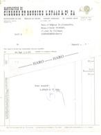 Facture - Manufacture De Cierges Et Bougies L. SPAAS & Cie à HAMONT En  1966 (xh) - Belgium
