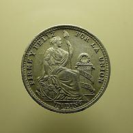 Peru 1 Dinero 1912 Silver - Peru