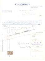 Facture - Vins Et Spiritueux A. De LAMOTTE à LIEGE En  1966 (xh) - Belgium