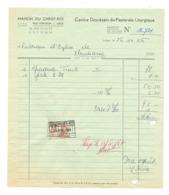 """Facture - Centre Diocésain Pastorale Liturgique """" Maison Du Christ Roi """" à LIEGE En  1966 (xh) - Belgium"""
