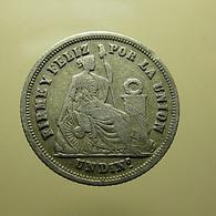 Peru 1 Dinero 1863 Silver - Peru