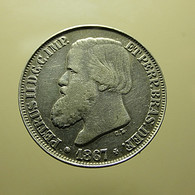 Brazil 200 Reis 1867 Silver - Brazil