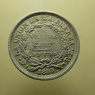 Bolivia 20 Centavos 1885 Silver - Bolivia