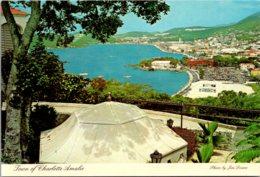 St Thomas Town Of Charlotte Amalie Seen From Bluebeard's Castle Hotel - Islas Vírgenes Americanas