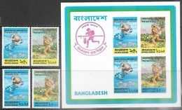 Bangladesh  1974 Sc#65-8a UPU Set & Souv Sheet  MNH  2016 Scott Value  $3.60 - Bangladesh