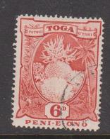 Tonga SG 79 1942 Coral 6d Red ,used - Tonga (1970-...)