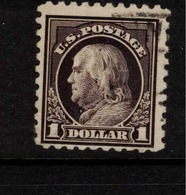 USA 1916 $1 Purple-black SG 484 U ZZ195 - Used Stamps
