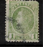 VENEZUELA 1880 1b Green SG 106 U ZZ190 - Venezuela