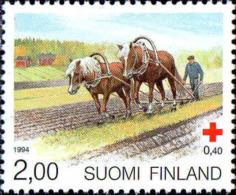 Finlande Poste N** Yv:1211/1213 Croix-Rouge Finlandaise Chevaux Finlandais - Caballos