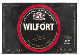 WILFORT GRANDE BIERE BRUNE - BLASON BRASSERIE KRONENBOURG A OBERNAI FRANCE, VOIR LE SCANNER - Beer