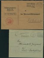 1936 2 Dienst-Bfe Ab Berlin Bzw. Kiel An Das Marine-Arilleriezeugamt  - Allemagne