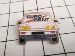616A Pin's Pins / Beau Et Rare / THEME : AUTOMOBILES / EURO RENT LOCATION DE VOITURES CITROEN ? - Citroën