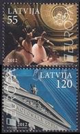 2012Latvia829-830Europa Cept5,50 € - Europa-CEPT