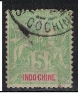 INDOCHINE            N°  YVERT    17 ( 13 )  OBLITERE       ( OB  7 / 39 ) - Used Stamps