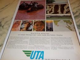 ANCIENNE PUBLICITE L INDES  ET   UTA 1967 - Advertisements