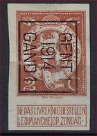 Nr. 109  Typo 51 B GENT I 1914 GAND I - ONGETAND / NON DENTELEE ! - Precancels