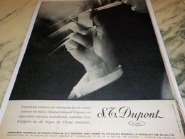 ANCIENNE PUBLICITE  MIEUX QU UN  BRIQUET UN DUPONT 1960 - Tabac (objets Liés)