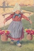 Karl Feiertag Petite Hollandaise Tulipes Moulin - Feiertag, Karl