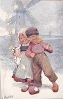 Karl Feiertag Enfants Hollandais Moulin - Feiertag, Karl
