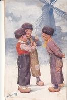 Karl Feiertag Trois Enfants Hollandais Moulin - Feiertag, Karl