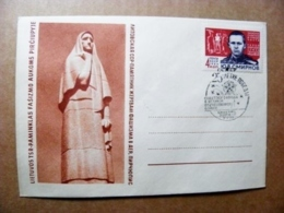 Cover Lithuania Special Cancel 1970 Vilnius Ussr Soviet Occupation Period WwII War Victory Monument Pirciupiai Soldier - Lituania