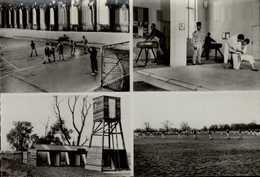 57-METZ...2eme REGIMENT DU GENIE...4 VUES ..CPSM PETIT FORMAT ANIMEE - Kasernen