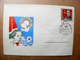 Cover Lithuania Special Cancel 1970 Vilnius Ussr Soviet Occupation Period WwII War Victory Soldier Hero Pioneer - Lituania