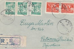 Yugoslavia 1946 Letter Knin - Vojna Posta 23463 (Military Post) - Covers & Documents